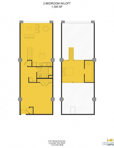 1 Bedroom Apartment With Loft 1395 Sq Ft
